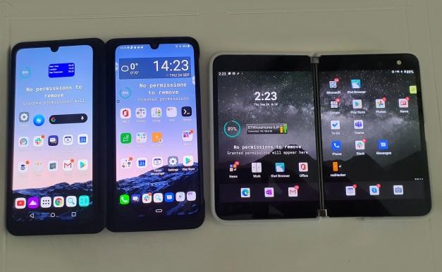 Surface Duo v LG G8x