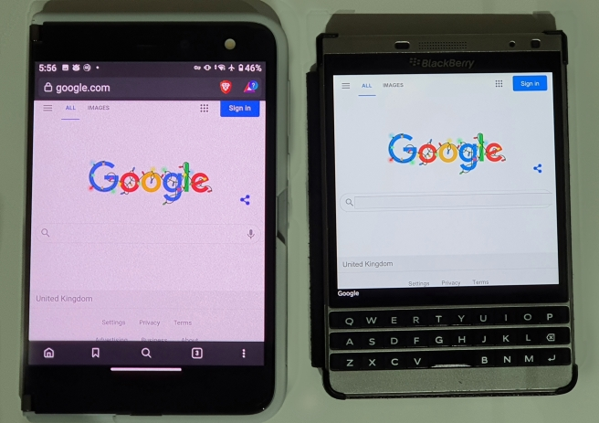 Surface Duo v BlackBerry Passport